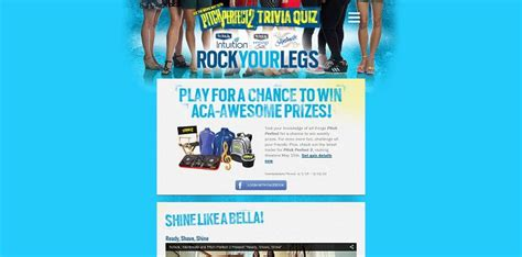 Schick Sweepstakes - schick and pitch perfect trivia quiz sweepstakes rockyourlegs com