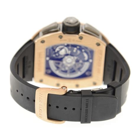 Richard Mille Rubber Black Rosegold Automatic richard mille felipe massa rm11 02 gold black rubber