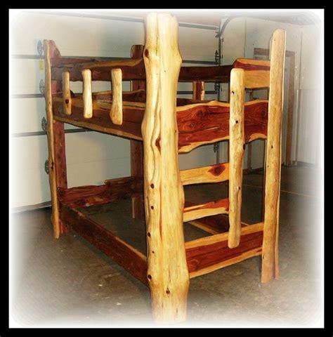 cedar log beds log bunk beds cedar rustic timber ranch logworks