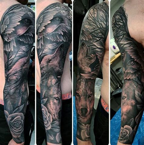 animal tattoo sleeve 100 animal tattoos for cool living creature design ideas