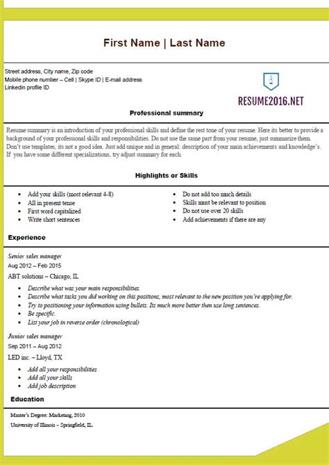 color resume templates free resume templates 2016