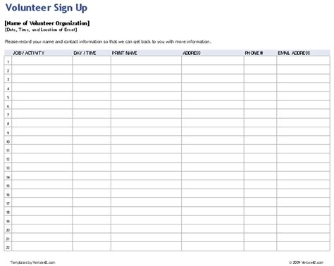 sign up sheet template sample performance appraisal forms microsoft
