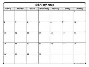 Calendar 2018 February And March February 2018 Calendar February 2018 Calendar Printable