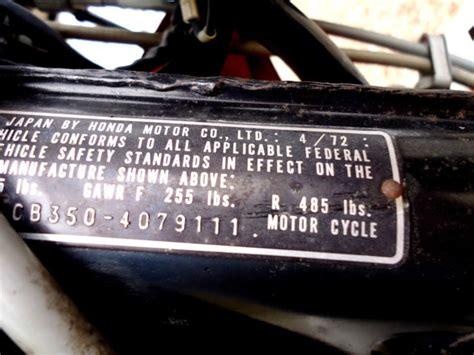 original survivor 1973 honda cb350 only 1900