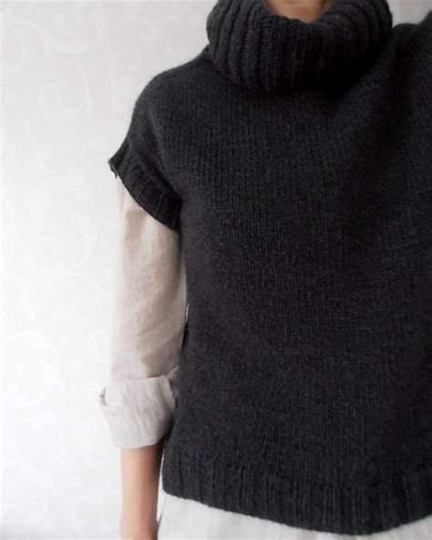 knit sweater turtleneck pattern 1000 images about knitting vests tabards on pinterest