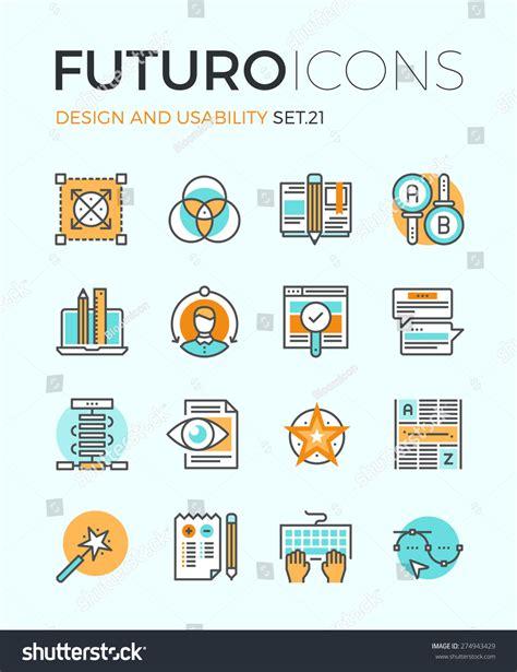 design elements icon line icons flat design elements graphic stock vector