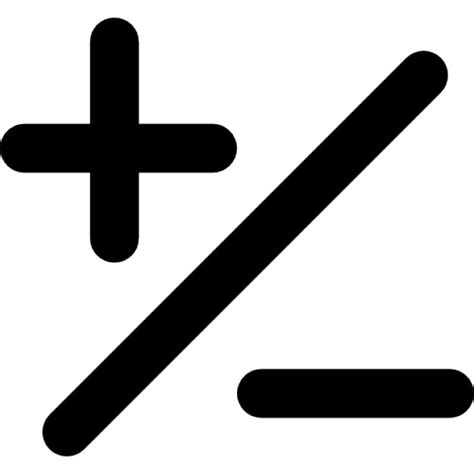 imagenes mas y menos signos b 225 sicos matem 225 ticos de m 225 s y menos con una barra