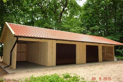 Doppelgarage Mit Satteldach 1727 by Doppelgarage Holzgarage Mit Satteldach Fertiggarage Mit