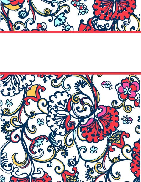 free preppy printable binder covers share