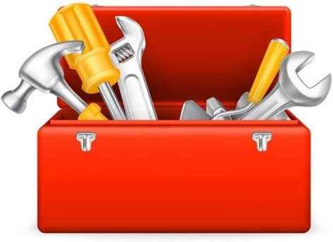 tool box behind cartoon toolbox vector free vector in encapsulated