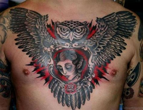 owl chest tattoo 61 brilliant owl tattoos for chest