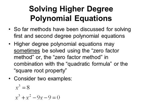 Solving Polynomial Equations Worksheet Answers by Solving Higher Degree Polynomial Equations Worksheet