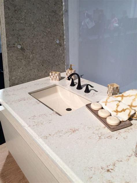 HanStone Quartz Serenity Transitional Bathroom Chicago by Stalwart Systems, LLC