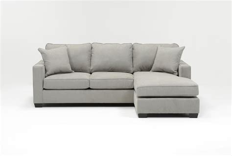 Egan Ii Cement Sofa W Reversible Chaise Living Spaces