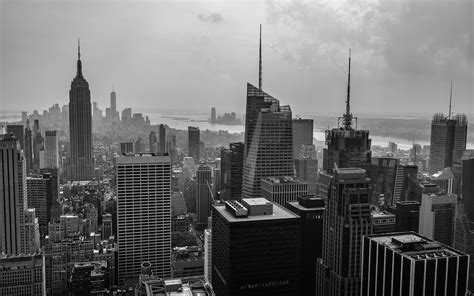 skyscraper wallpaper black and white new york buildings skyscrapers bw wallpaper 1920x1200