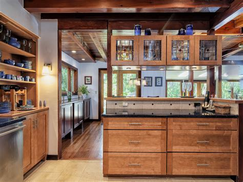 Pacific Nw Mid Century Kitchen Lake Oswego One Story Craftsman Home Country Kitchen