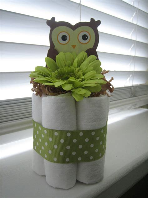 Owl Mini Diaper Cakes For Baby Shower Centerpiece Or New Owl Centerpieces For Baby Shower