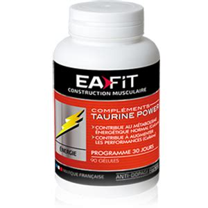Ea Fitness - ea fit taurine power acides amin 233 s musculation fr