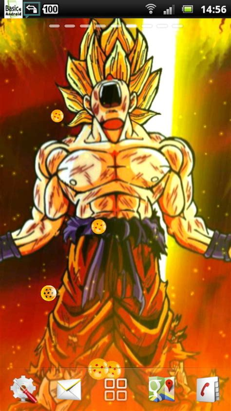 dragon ball super saiyan android live wallpaper apk dbz live wallpaper wallpapersafari