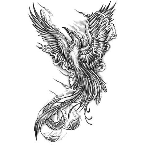 tattoo phoenix black and white black rising phoenix tattoo design