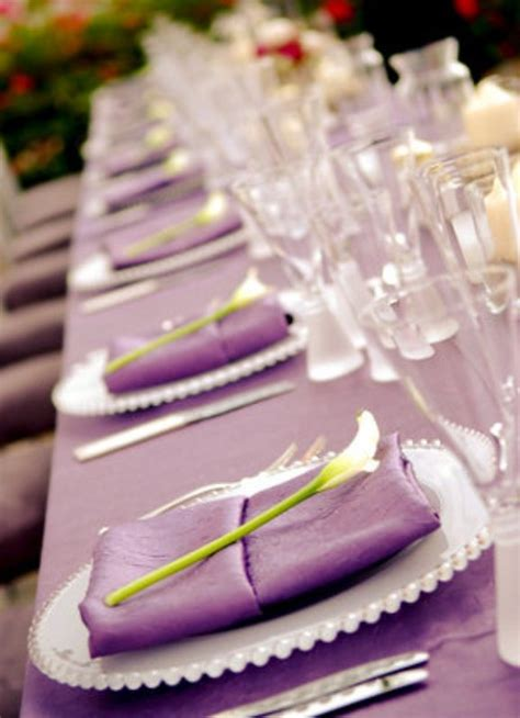 wedding table decoration ideas purple purple themes archives weddings romantique