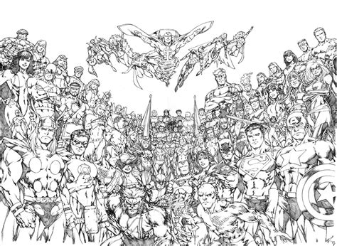 dc marvel coloring pages jla avengers benes dps recreation by pencilsandstrings on
