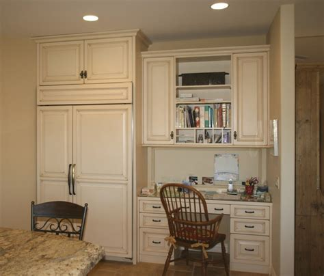 desk area desk area traditional kitchen philadelphia by