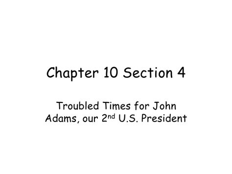 chapter 10 section 4 ppt