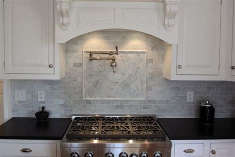 bianco carrara marble backsplash kitchen ideas