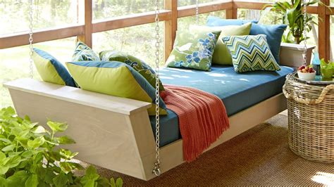 swinging daybed plans hanging daybed plans youtube