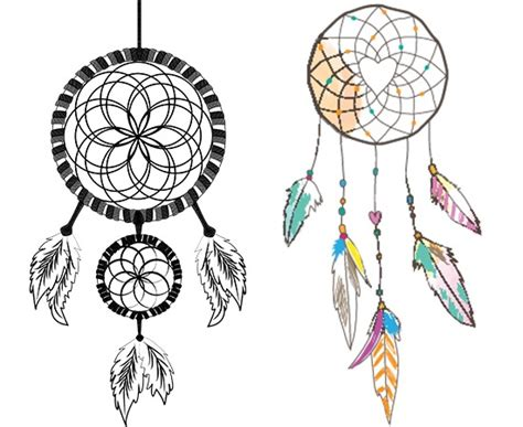 simple dreamcatcher tattoos simple catcher designs related keywords simple