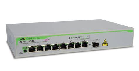 Switch Hub 8 Port Allied Telesis premiertech poe switch