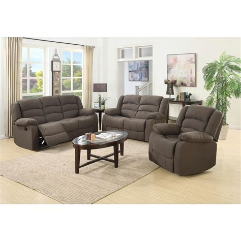 living room 3 piece sets ellis contemporary microfiber 3 piece living room set