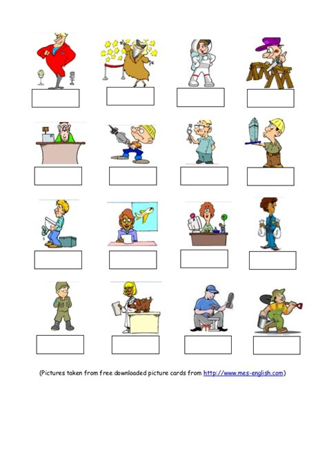free printable english worksheets occupations occupations worksheet
