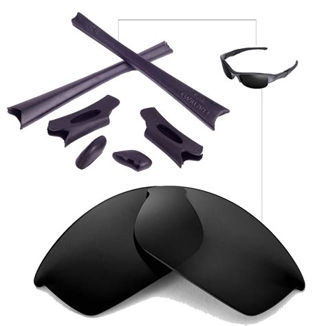 walleva lenses and rubber kit for oakley flak jacket