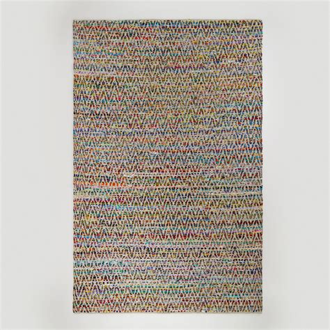 6 x9 chevron reclaimed cotton chindi rug from cost plus world