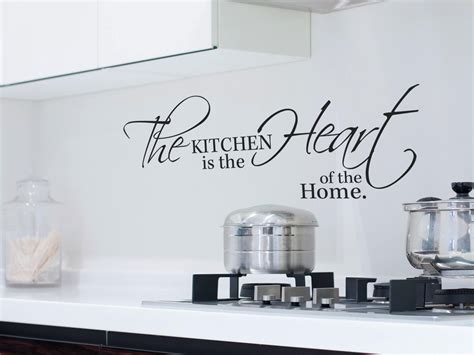 kitchen is the heart of the home muursticker quot the kitchen is the heart of the home quot