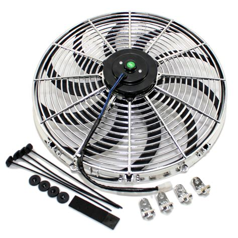 how to electric fan 16 quot chrome s blade electric radiator fan w hardware