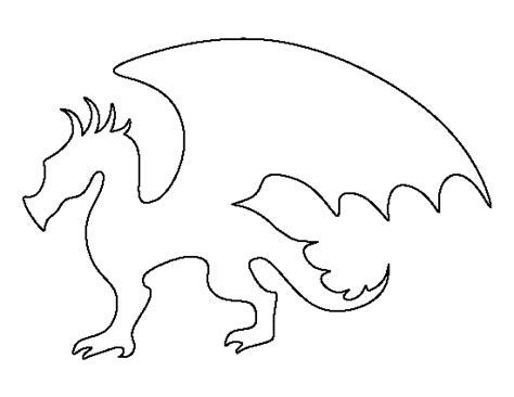 Printable Dragon Templates | dragon pattern use the printable outline for crafts