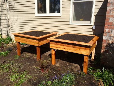 elevated raised garden beds raised garden beds portland edible gardens raised
