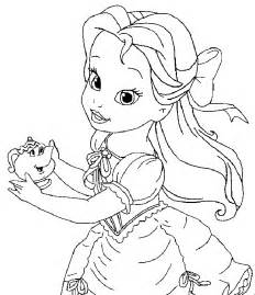beauty beast belle cute coloring pages kids cij printable beauty beast