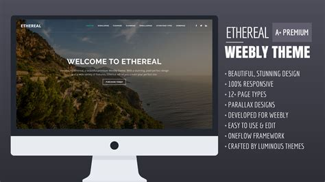 Ethereal A Premium Weebly Theme Themes Templates Premium Weebly Themes And Templates