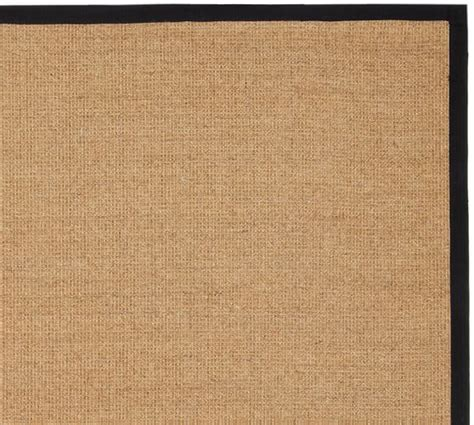 color bound sisal rugs color bound sisal rug black pottery barn