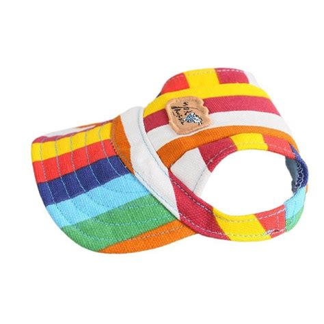 hats with ear holes easywin pet outdoor accessories elastic chin puppy cat visor hat