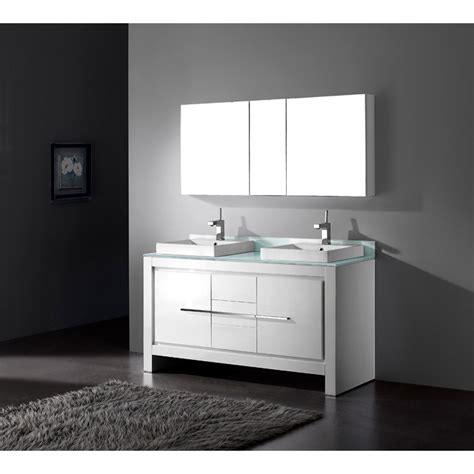 List Vicenza madeli vicenza 60 quot bathroom vanity glossy white