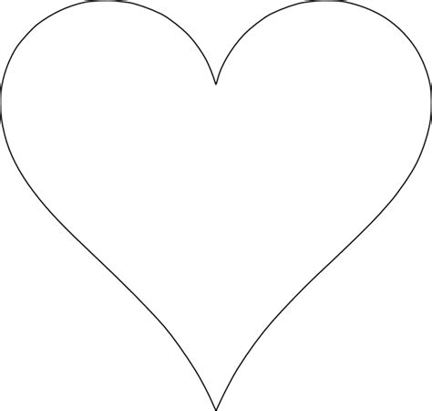 best photos of heart outline printable template heart