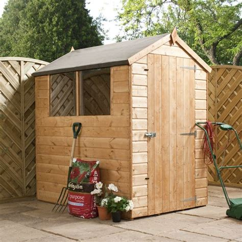 6 X 4 Garden Shed by 6 X 4 Waltons Tongue And Groove Apex Wooden Shed