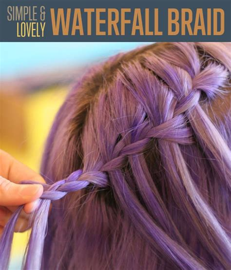 waterfalls cascade braids step by step waterfall braid braided hairstyles tutorial diy ready
