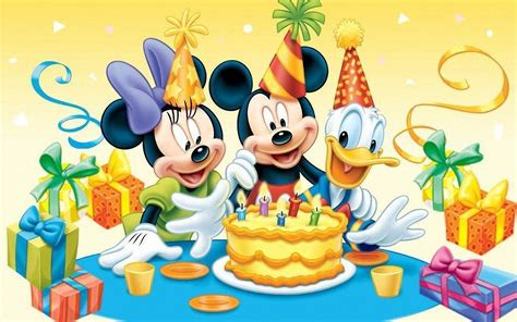 birthday wallpaper with cartoon cartoon characters on birthday wallpapers and images