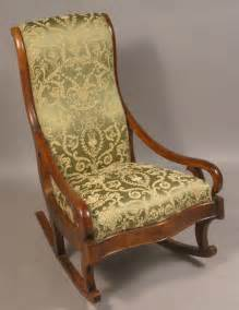 vintage upholstered rocking chair siji plushemisphere